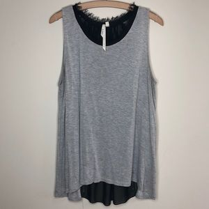 Bellatrix Grey/Black knit/poly tank M